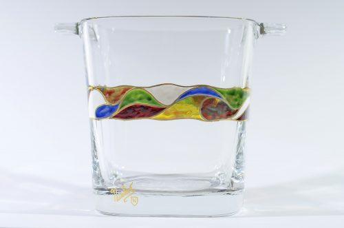 Cubitera vidrio decorado