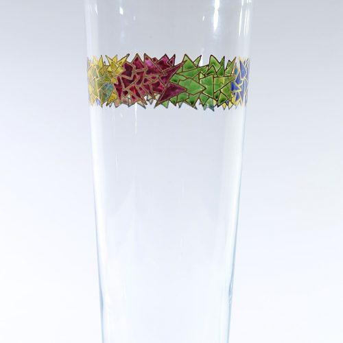 Jarrón vidrio decorado