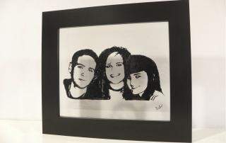 Retratos en vidrio