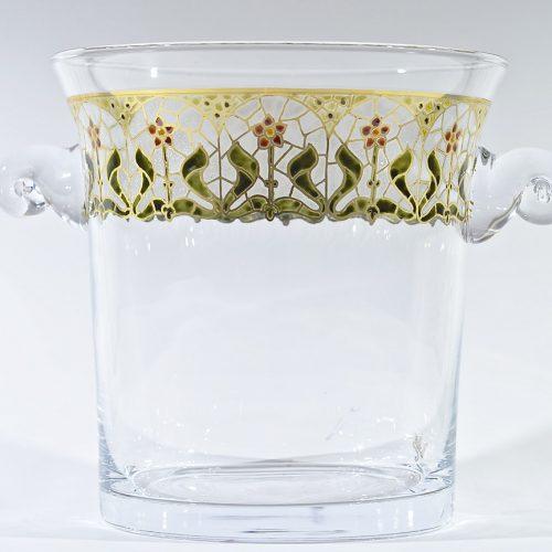 Champañera vidrio decorado
